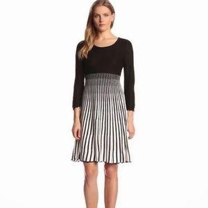 Calvin Klein Black and White Sweater Knit Dress